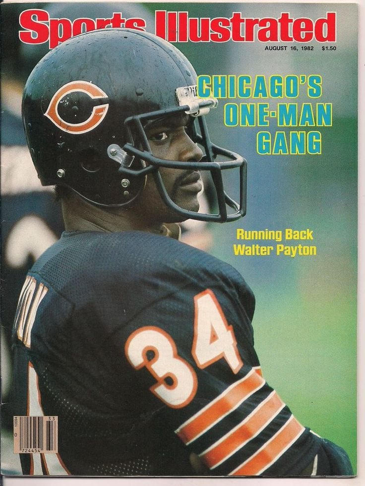 sports illustrated hof walter payton #Chicago #Bears 8/16/1982 from $11.99