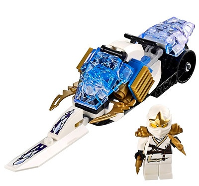 new lego ninjago zane zx plus snowmobile from 9445 minifig. Black Bedroom Furniture Sets. Home Design Ideas