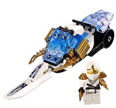 new lego ninjago zane zx plus snowmobile from 9445 minifig. Black Bedroom Furniture Sets. Home Design Ideas
