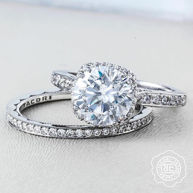 The most perfect engagement ring meets its match. #Tacori