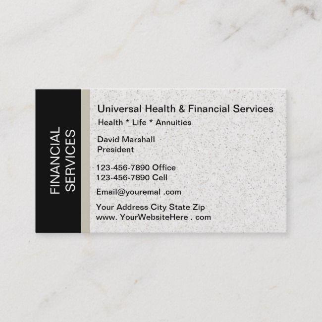 Financial Services Business Card Zazzle Com Unique Business