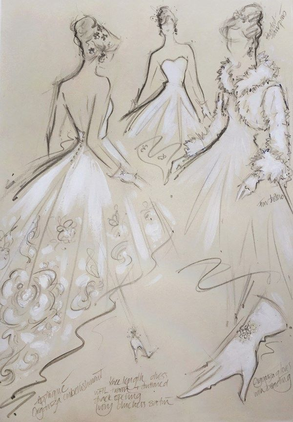 the most thoughtful unusual wedding gifts jane hartley wedding dress illustration