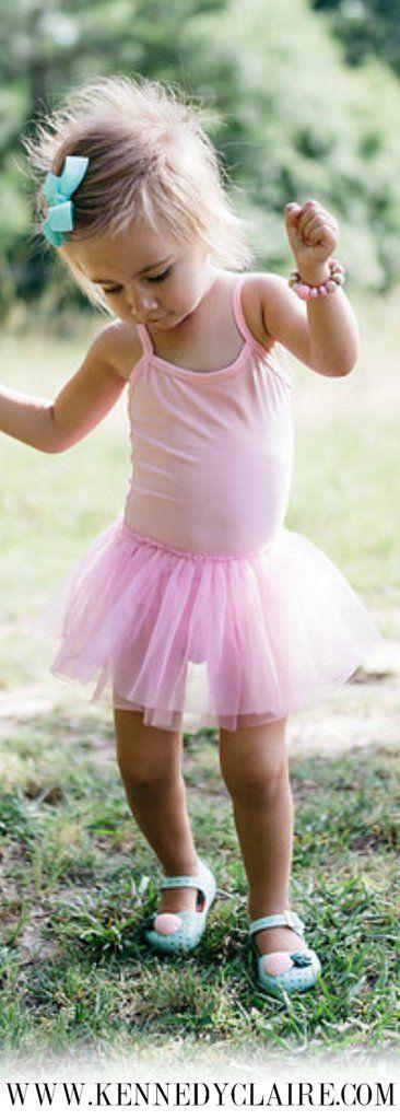 Cute Leotard Tutu Dress Light Pink Leotard Dress for Toddlers