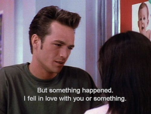 He is totally not afraid to express his emotions. | 15 Reasons Why Dylan McKay Is The Perfect Boyfriend