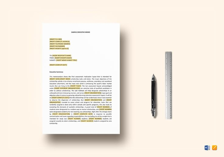 Sample Executive Memo Template  $12  Formats Included : Pages, MS Word File Size : 8.27x11.69 Inchs, 8.5x11 Inchs Pages :4 #Documents #Documentdesigns #Memodesigns #MemoTemplates #SampleExecutiveMemo