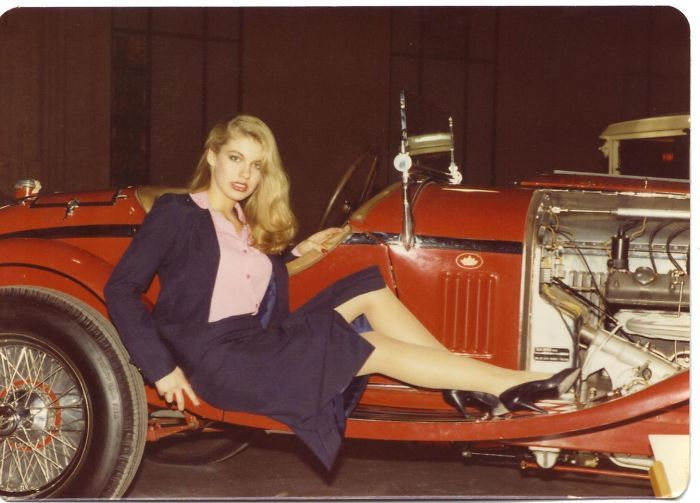 My Mom Lounging On A Car (1980's)
