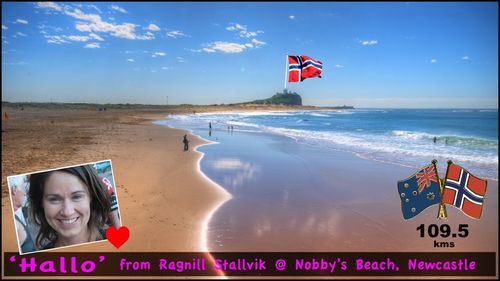 Thank you James for sendinig my postcard from Nobby's beach!