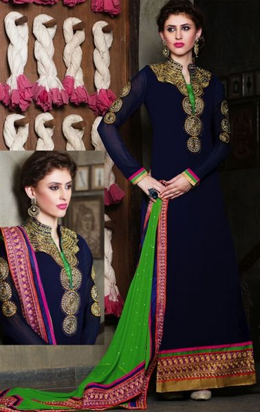Captivating Blue Color Salwar Kameez for Wedding