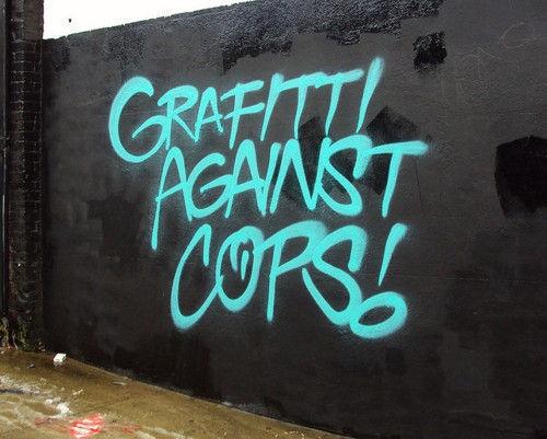 Graffitti against cops