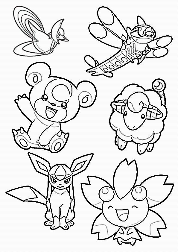 pokemon group coloring pages - photo#17