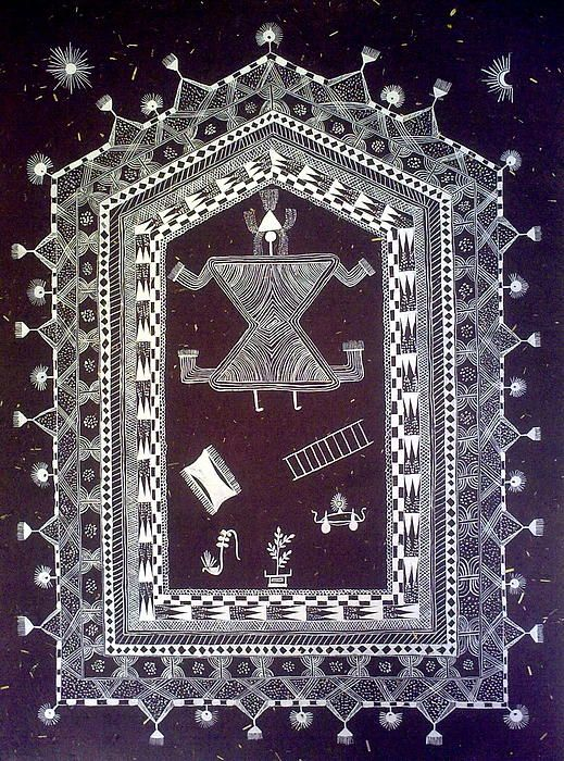 Original Warli Painting- Wedding Chowk Indian Folk Art ...