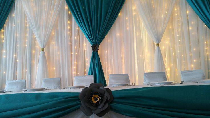 Event decor by Lasting Love Decor & Design www.lastinglove.ca  #paperflowetweddingdecor #fairylightweddingdecor #weddingdecor #weddingbackdrops