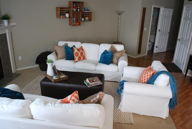 Teal Orange Living Room Home Pics Pinterest