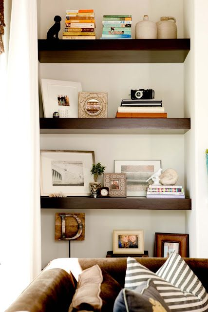 The thickness of those floating shelves is what I'm looking for