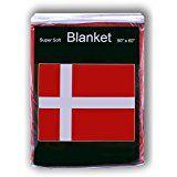 Denmark Danish Flag Fleece Blanket 5 ft x 4.2 ft. Throw Cover