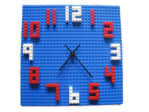 This fun Lego(R) clock is not only great for decorating your little Lego maniac's room but perfect for teaching time with its easy-to-read numbers.