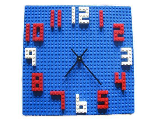 Lego Kids Wall Clock Building Block Children's by HappywoodGoods