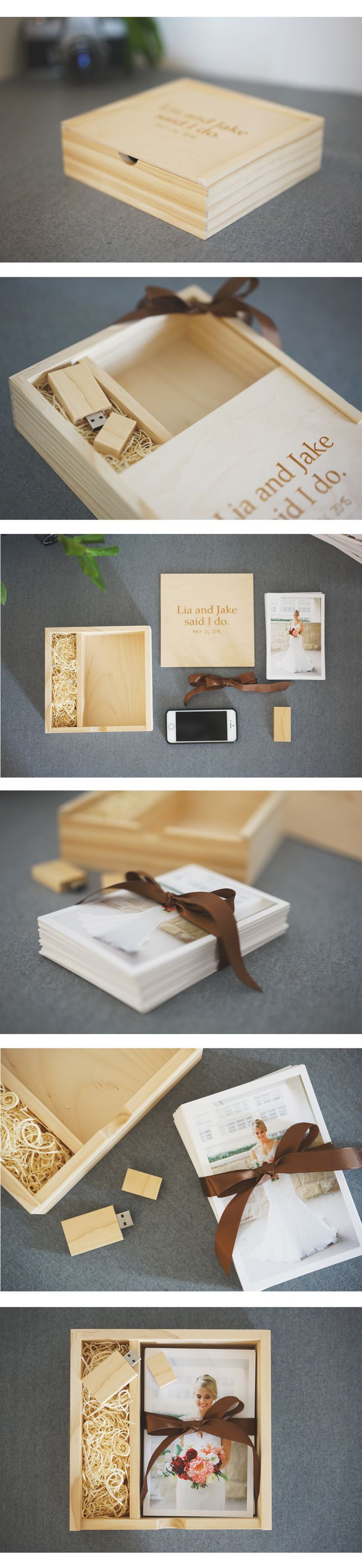 What's your go to box for storing 4x6 prints, our is this beautiful and custom wooden Proof Box with USB!