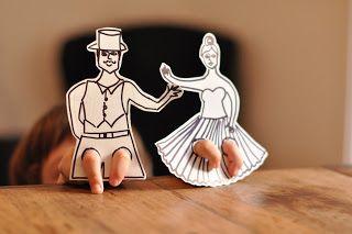 Estéfi Machado: Se ela dança eu danço! * Dançarinos de papel