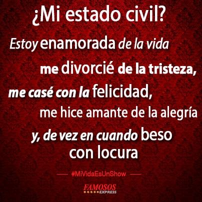 ¿Mi estado civil?