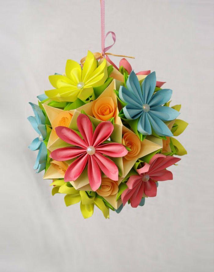 Les 25 meilleures id es de la cat gorie origami ball sur pinterest balle en origami origami - Comment faire une fleur en origami ...