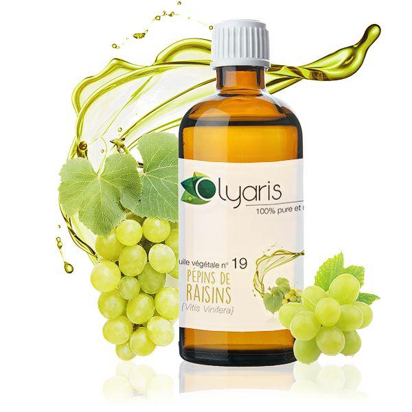 Que faire sans celle çi ! L'huile végétale de pépins de raisins et riche en vitamine E, antioxydante et réparatrice, on l'utilise en cas de cheveux et peaux abimés. Désincrustante et régulatrice, elle contrôle aussi le sébum.