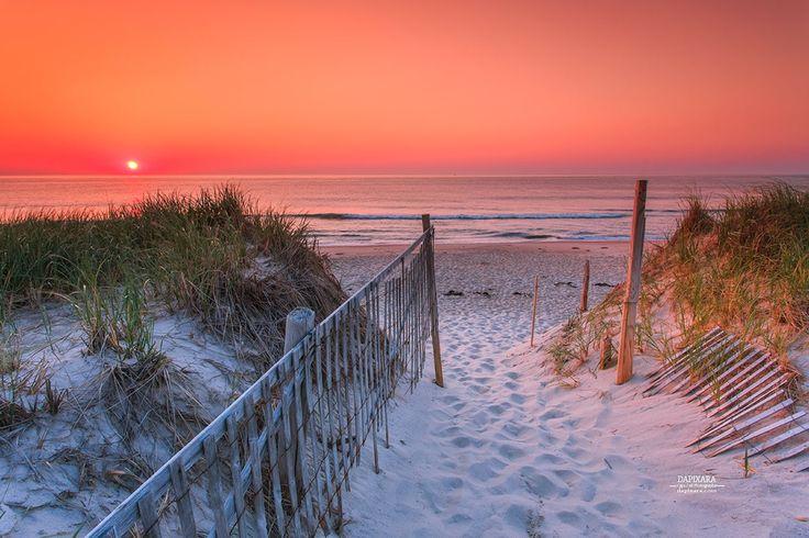 nauset-Beach-June-13. Spine-tingling Ocean Sunrise Today From Nauset Beach in Orleans, Massachusetts. Dapixara photography https://dapixara.com