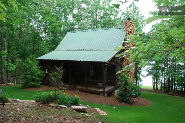 Deer run cottage deer run cabin on lake wedowee house for Log cabin builders in alabama