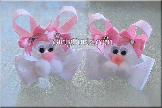 ribbon easter hair bows