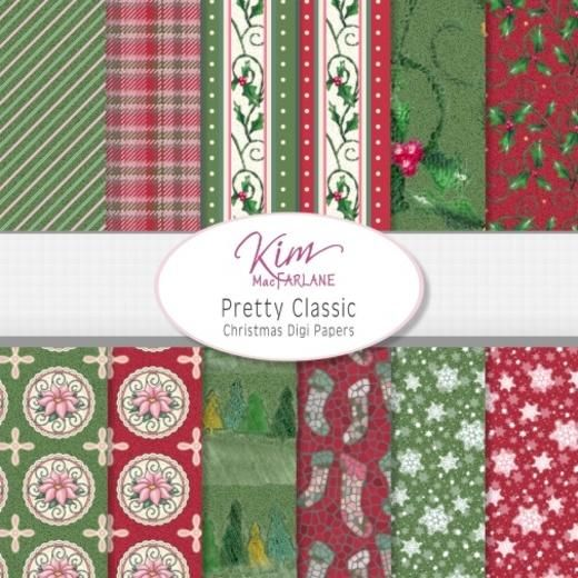 Kim's Digi Papers - Pretty Classic Christmas