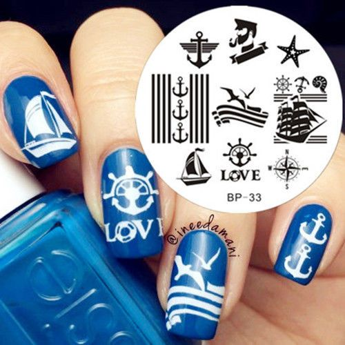 Nagel Schablone BORN PRETTY Nail Art Stamp Stamping Template Plates 33