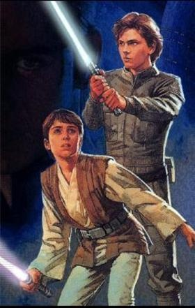 These are supposed to be Anakin Solo and Jacen Solo.... Really?? River Phoenix was reborn as the son of Han and Leia and the brother of that guy from Neverending Story? .... weird! (well, at least River was really cool, so that might be ok though....)