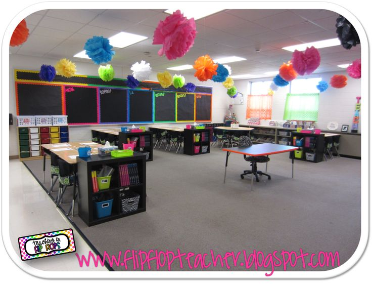 Teaching in Flip Flops: Classroom Tour 2012 - 2013- super cute bright classroom