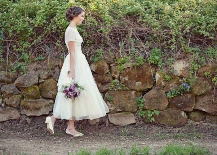 くるぶしをチラ見せ♡ミモレ丈の可愛いウェディングドレスをあつめました♡ | marry[マリー]