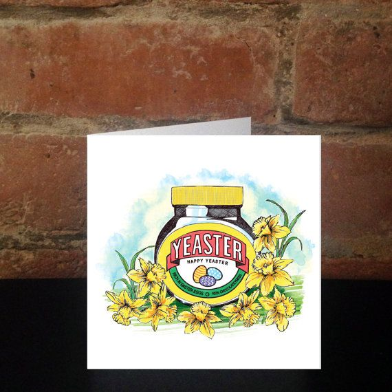 Happy Easter Card for Marmite Lovers Greetings by SHERWOODMADEUK