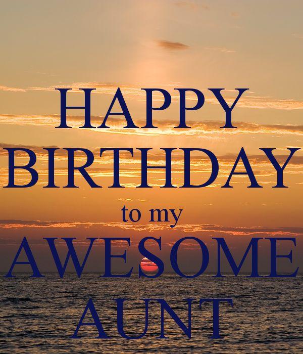 Happy Birthday to My Aunt   HAPPY BIRTHDAY to my AWESOME AUNT Poster   yanica fenech   Keep Calm-o ...