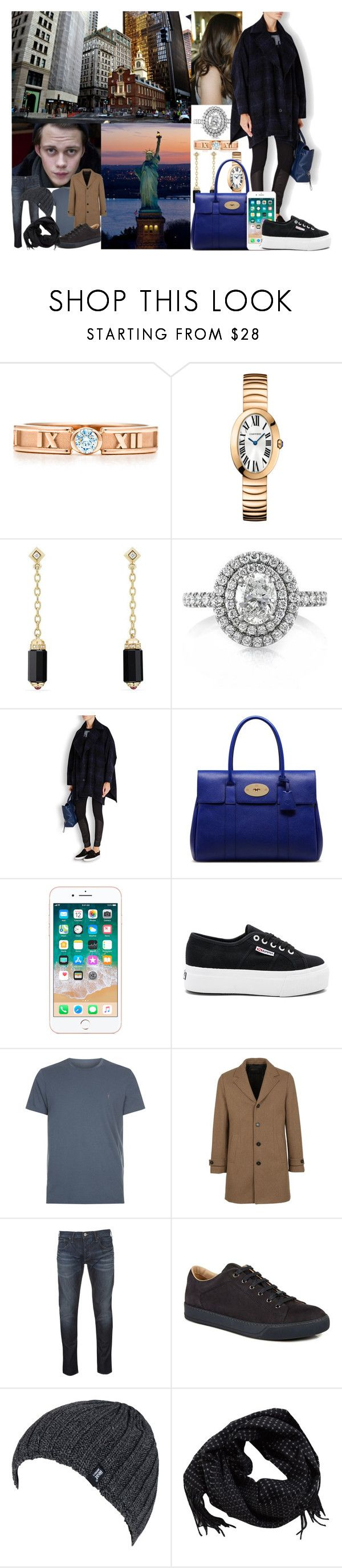 """Sightseeing in New York"" by princessofnorth ❤ liked on Polyvore featuring David Yurman, Mark Broumand, pureDKNY, Mulberry, Superga, Metropolis, AllSaints, Paltò, Armani Jeans and Lanvin"