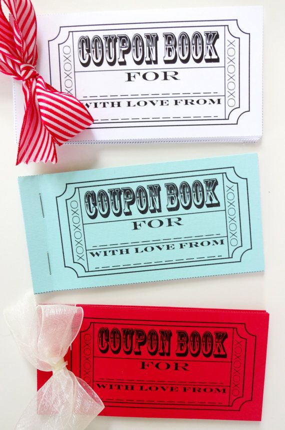 DIY Coupon Book Printable by LilCubbyPrintables on Etsy