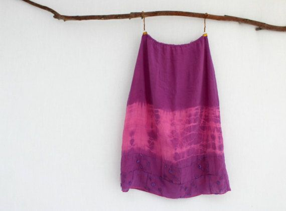 GYPSY . women's tie dye skirt . size 8 . purple . by bohemianbabes