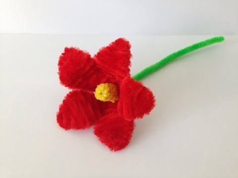How to make a Pipe Cleaner Lily - YouTube