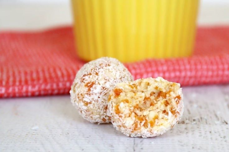 White Chocolate, Coconut & Apricot Balls
