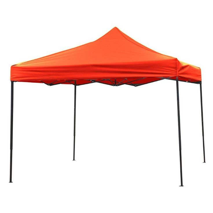 Trademark Innovations Lightweight and Portable Canopy Tent Set - 10 x 10 ft Red - 10FTCAN-RED