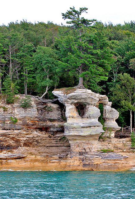 Chapel Rock Pictured Rocks National Park U.P Michigan