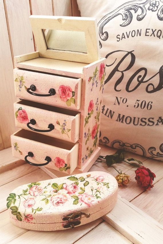 Personalisable vintage rose wooden drawer at https://www.etsy.com/listing/498991205/personalisable-vintage-rose-wooden