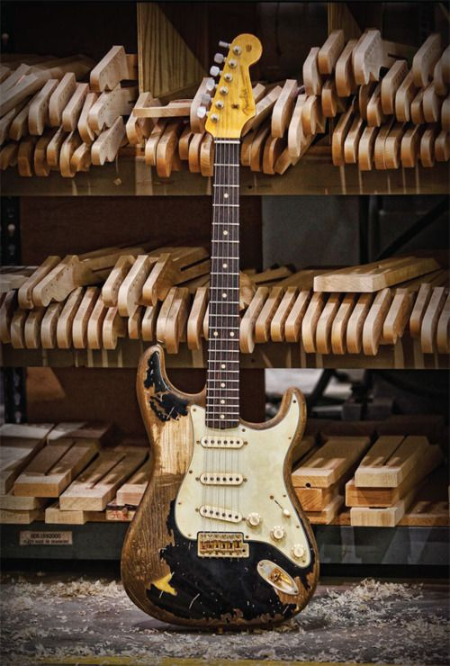 First purchase after winning the lottery. Fender, Fender Stratocaster John Mayer 'The Black One Relic'.