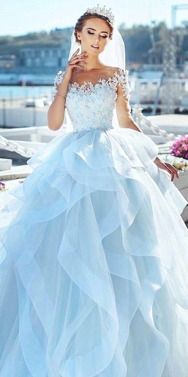 27 Best Wedding Dresses For Celebration Blue Wedding Gowns Blue