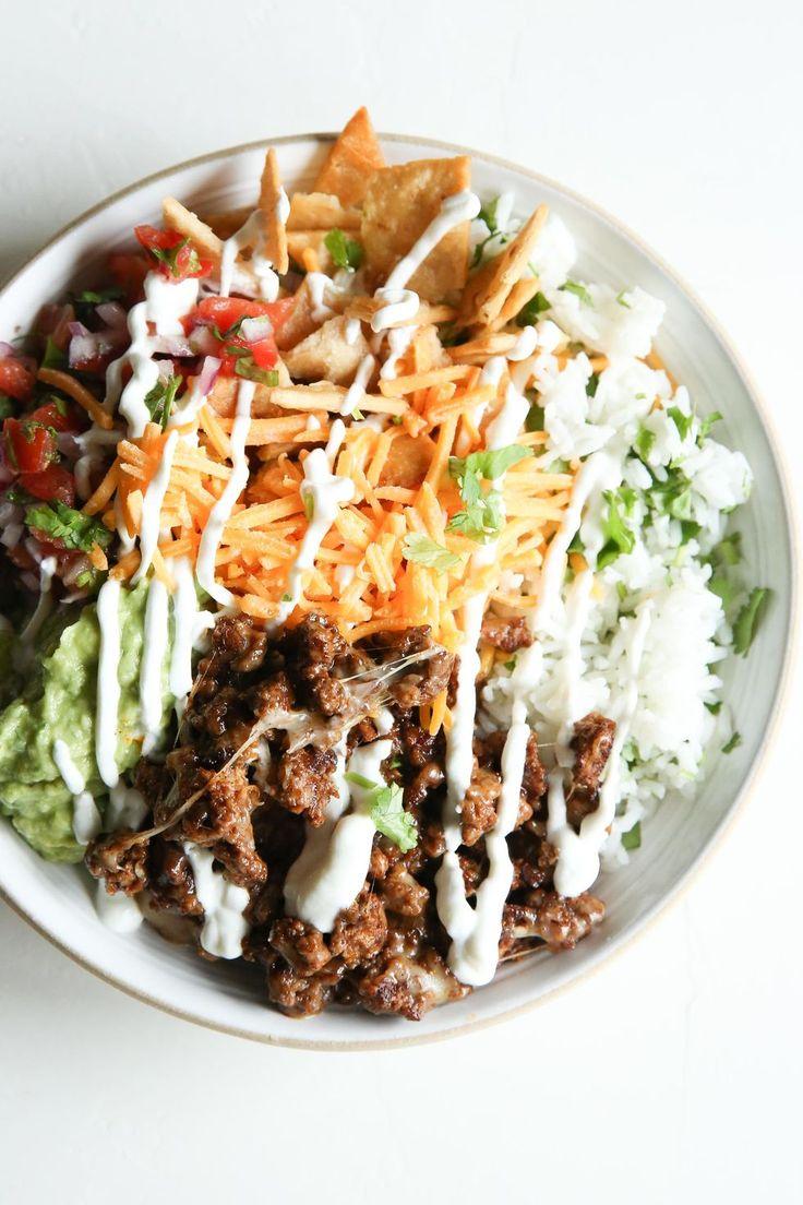 Loaded burrito bowls recipe beef recipes recipes