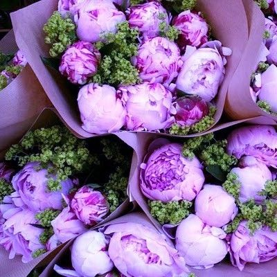 .: Pink Flower, Beautiful Flower, Rose, Brown Paper, Sweet, Color, Bouquets, Fresh Flower, Pink Peonies