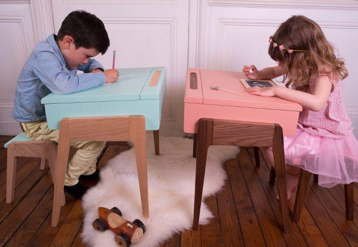 """My Little Pupitre bureau pour enfant par Jungle by Jungle """"Mobilier pour enfants a destination du travail, créant ainsi un certain attrait pour les devoirs"""""""