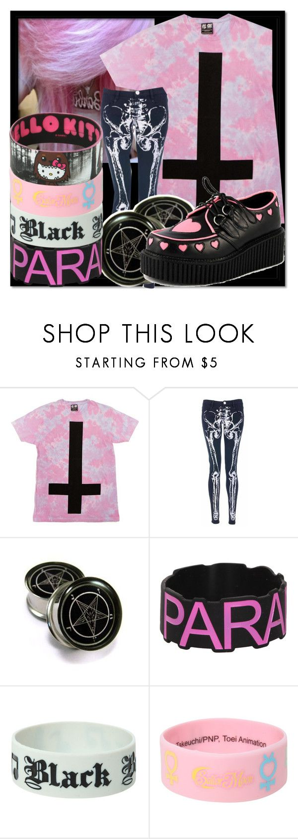 """""""We could go back to New York Loving you was really hard We could go back to Woodstock Where they don't know who we are Heaven is on earth I will do anything for you, babe Blessed is this, this union Crying tears of gold, like lemonade"""" by nekoprincess ❤ liked on Polyvore featuring Iron Fist, HIDE, Hot Topic, Hello Kitty and raeleespenguin"""